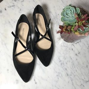 Nine West Black Osteria Suede Leather Flats Shoes
